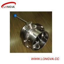 Válvula de mariposa con abrazadera de acero inoxidable 316