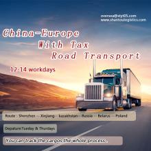 Transporte rodoviário rápido de Shenzhen para a Europa