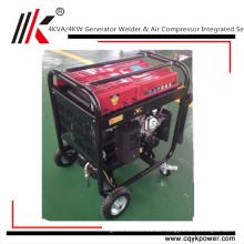 China Benzinmotor-Schweißer-Generator 100% kupferner tragbarer Luftverdichtermotor des Generatorschweißer 4KW