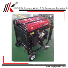 China Gasoline Engine Welder Generator 100% Copper portable generator welder 4Kw air compressor engine