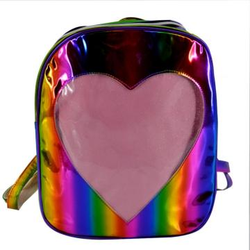HEART RAINBOW LASER BACKPACK-0
