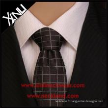 En gros Pas Cher Jacquard Tissé Hommes Narrow Cravates Polyester