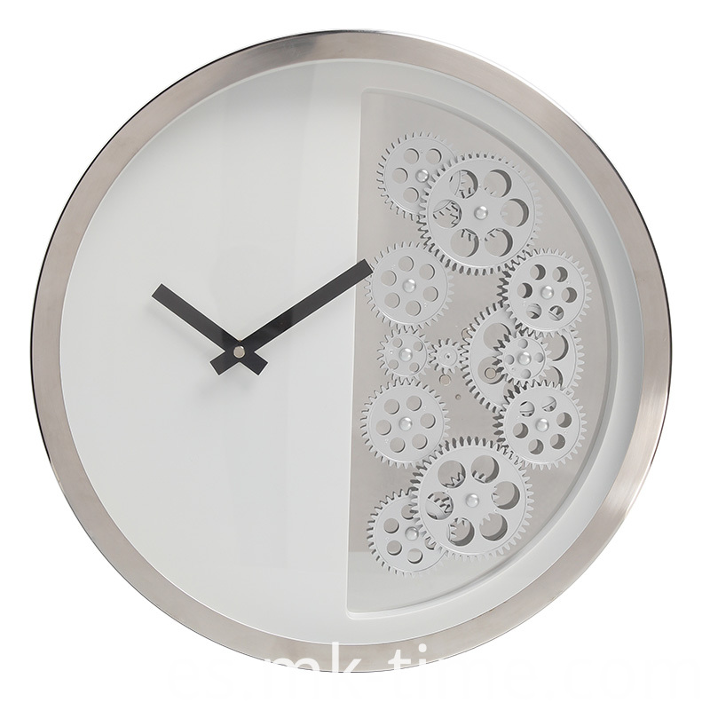 Home Decor Black And Silver Wall Clocks