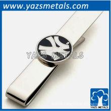 New York yankees tie bar, custom made metal tie clip with design