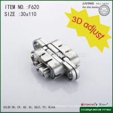 Bisagras ocultas de aleación de zinc 3D