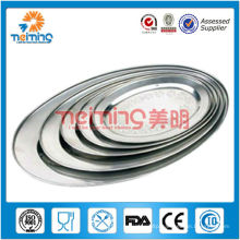 5 pcs stainless steel oval dish