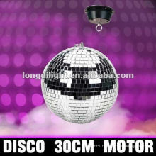 "12"" ROTATING DISCO MIRROR BALL MOTORISED CEILING MOUNT 1.5RPM NEW"