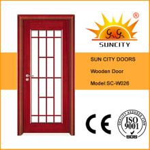 Классический дизайн входной двери со стеклом