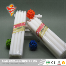 long burning time household white stick candle