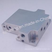 Peças de válvula de bloco usinadas de alumínio anodizado