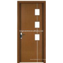 WPC PVC toilette salle de bain salle de bain avec design en verre, conception de porte simple