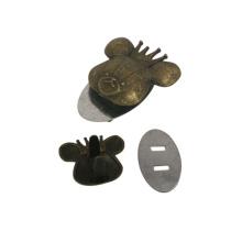 Logo personnalisé de marque de sac à main en métal de mode