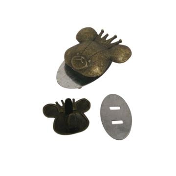 Fashion Customized Handtasche Metall Markenlogo