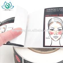 Etiqueta adhesiva resistente al agua PP Pegatina adhesiva fuerte sintética para envase cosmético