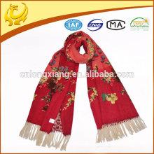Vente en gros de mode personnalisée mince Pashmina 100% châle en laine mérinos