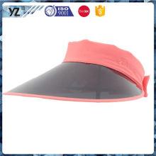 Último produto design especial moda boné plástico visor cap com bom preço