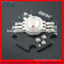 led diode 3w rgb with heatsink top quality