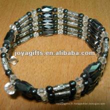 """Bracelet et pendentif en perles magnétiques en alliage Bracelet et collier 36 """""""
