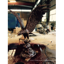 bronze fonderie métal artisanat animal jardin décoration aigle