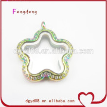 Superior quality 316L stainless steel floating locket pendant from professional locket manufacturer