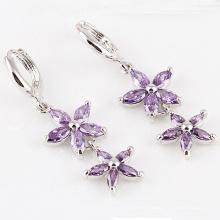 Silber Zirkonia Diamant Kristall Zirkon Ohrringe