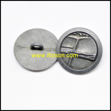 Botón de metal de caña para la capa