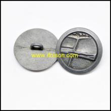Bouton de tige métallique pour manteau