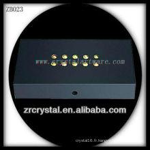 Base lumineuse en plastique de LED pour le modèle en cristal