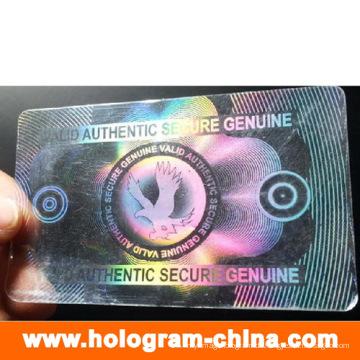 3D Laser Anti-Fake Transparente Hologramm ID Overlays