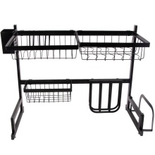 Stainless Steel 2 Ties Storage Holders Racks Kitchen Accessories Drying Storage Rack Over Sink