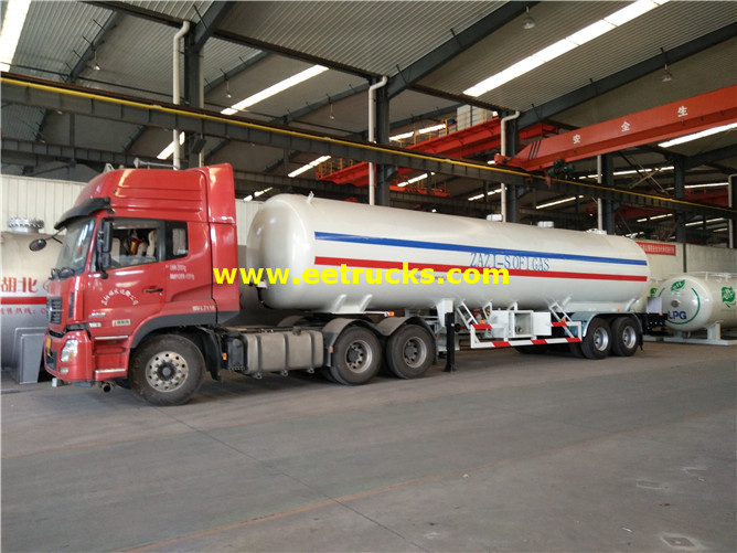 40m3 ASME LPG Delivery Trailers