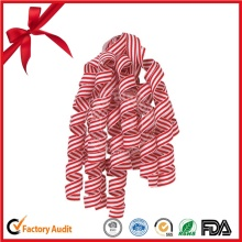Strip Pattern Curling Ribbon Bow for Christmas Decorative Bow