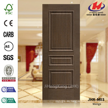 JHK-M03 Línea levantada diseño decorativo Europen Government Veneer Wenge panel de puerta cóncava