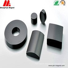 Black Epoxy Coated Arc Neodymium NdFeB Permanent Motor Magnets
