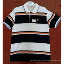 Baumwollgarn gefärbte Engineering Stripe Polo Shirts