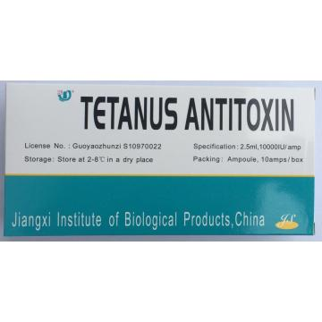 Tetanus Antitoxin Injection للعلاج البشري 10000IU فرسي