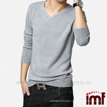 2014 New Fashion Men's V-neck Knitted Cashmere Sweater