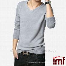2014 Новый модный мужской V-образным вырезом трикотажные кашемировые свитера