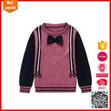 Hot selling custom logo knitting patterns baby wool sweater