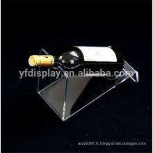 Support d'affichage transparent clair de verres acryliques / affichage acrylique clair de vin de verres