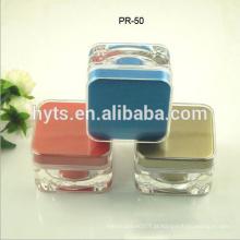 venda por atacado square cosmetic cream acrylic jar
