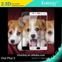 vente en gros 3D Protecteur d'écran en verre trempé à couverture totale pour Oneplus 3