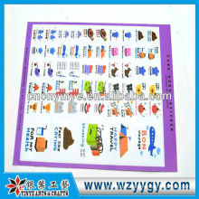 Fashion oem PVC recycling learning stickers for kids