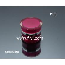 15g elegante vermelho personalizado rodada acrílico parede dupla jarra