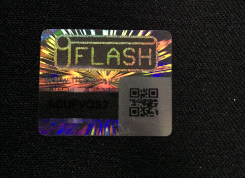 Custom QR Code Security Hologram Label