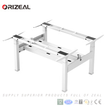 new product office furniture electric height adjustable standing computer desk with two person