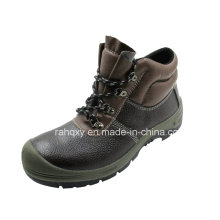 Coffee Split Embossed Leather Safety Shoes (HQ01010)