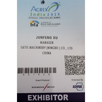 Satis Machinery Acrex Índia 2019 Fin Die