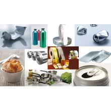 Eine Seite Helle Haushalt Aluminium Folie für Lebensmittel Verpackung 1145 O 12mic X 450mm