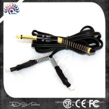 Colorido tatuagem direito angular RCA cabo de clipe de silicone, silicone 100% macio